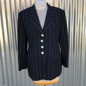 Escada black striped blazer